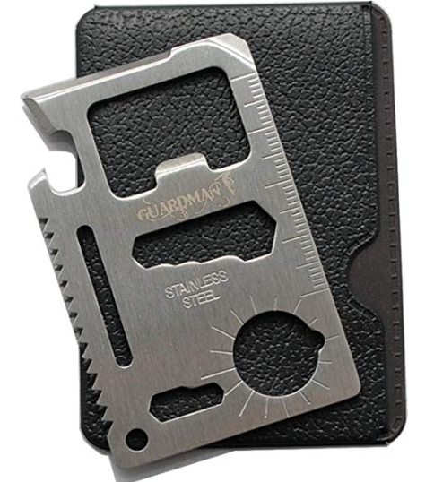 Guardman 11 in 1 Beer Opener Survival Credit Card Tool Fits Perfect in Your Wallet 1 Stocking Stuffers for Him Christmas Gifts for Him Amazon.com