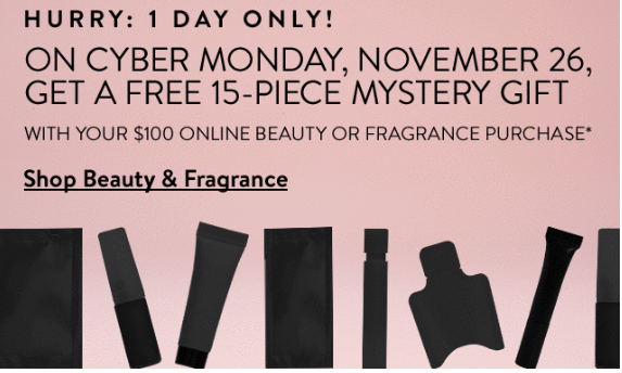 nordstrom 15 mystery gift with 100 purchase cyber monday icangwp blog