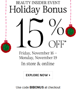 sephora 15 off is coming