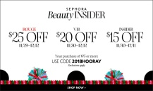 sephora 20 off coupon holiday hooray icangwp blog