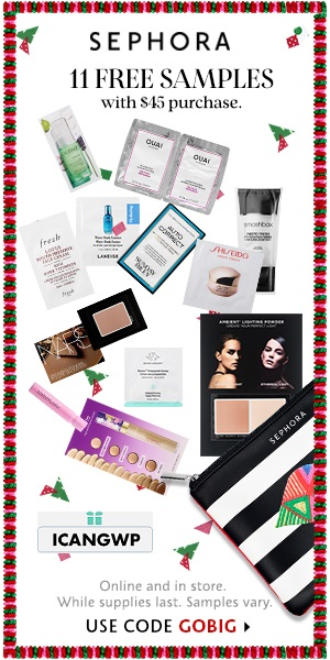 Sephora canada black friday coupon 11 samples w 45 purchase icangwp blog