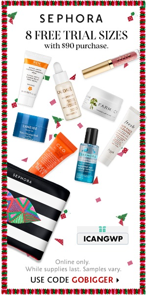 sephora canada black friday coupon 8 samples wtih 90