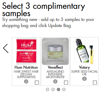 Space NK Apothecary London free samples