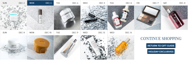 12 days of beauty gifts bluemercury