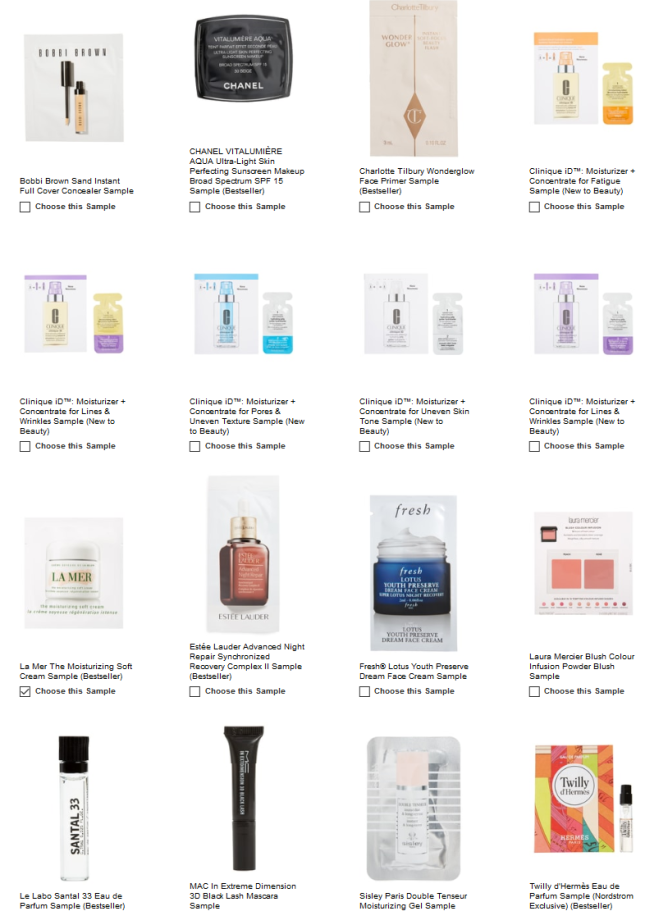 free makeup samples with purchase nordstrom