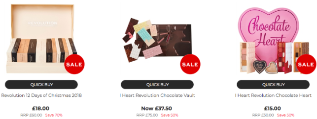 revolution beauty sale onsite offers