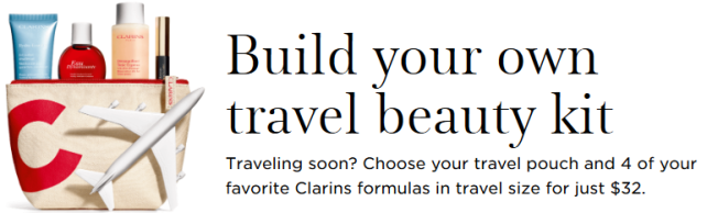 Build Your Own Travel Beauty Kit Body Face Travel Set Clarins