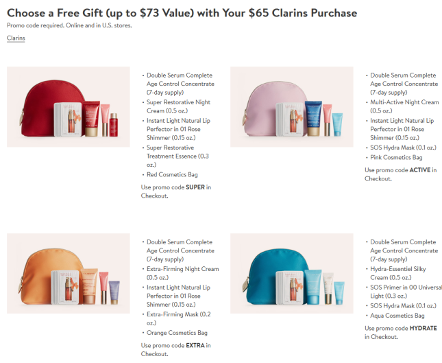 clarins Gift with Purchase Nordstrom icangwp blog