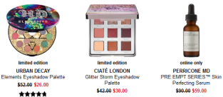 palette clearance Sephora