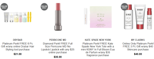 platinum Gifts with Purchase Ulta Beauty march 2019