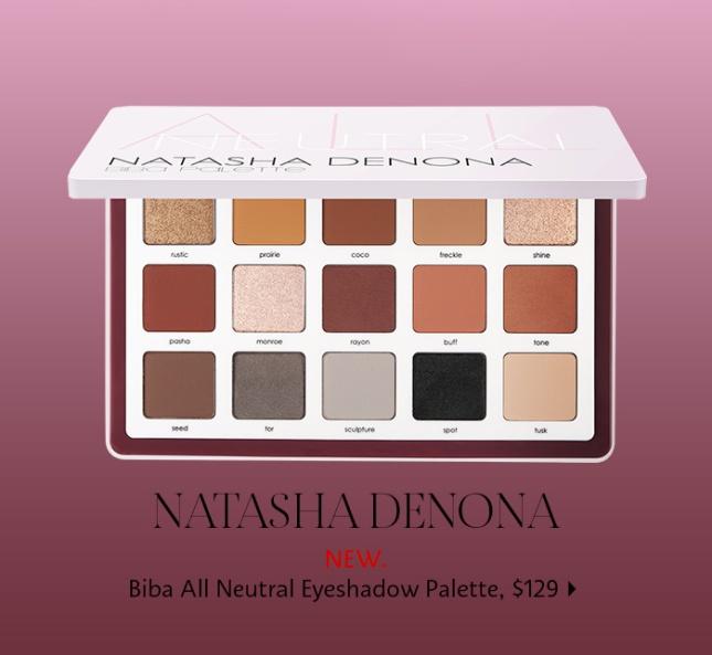 sephora natasha denova neutral palette 2019