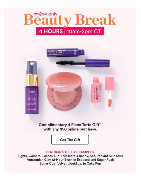 ulta beauty break tarte march 2019