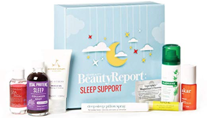 Amazon.com NewBeauty BeautyReport Sample Box Sleep Support Edition Complete Nighttime Regimen Set ft. Magnesium Melatonin Lavender Nourishing Essential Oils Beauty