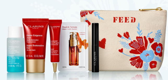 clarins feed 10 Gift with Purchase Nordstrom