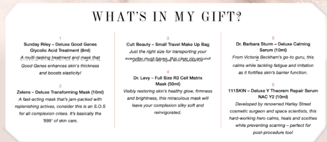 cult beauty goody bag 2019 The Luxe Skin Care Gift icangwp blog (3)