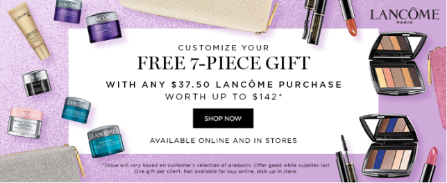 lancome gift with purchas Boscovs april 2019 icangwp blog