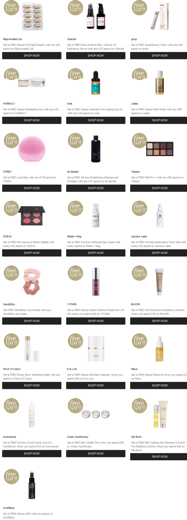 Promotions Cult Beauty sale april 2019 icangwp blog
