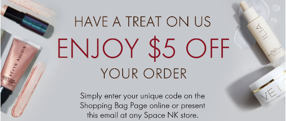 space nk Enjoy 5 off your order icangwp