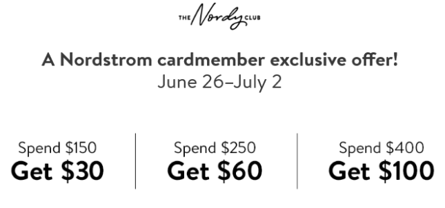 June Spend Get Offer Nordstrom the nordy club