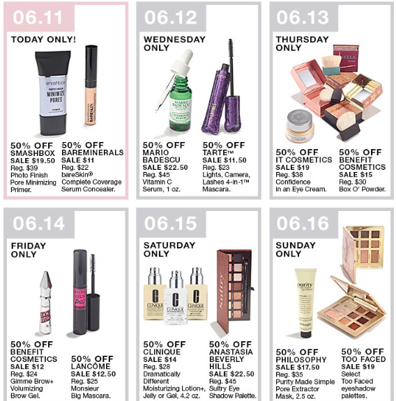 macys 10 days of beauty sale 50 off beauty deals for 10 days.