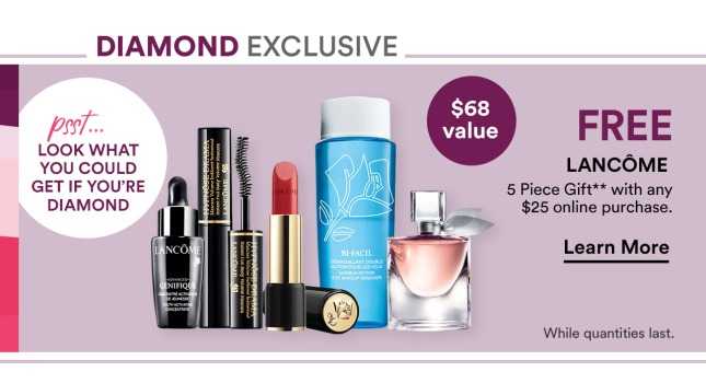 ulta diamond 5pc lancome gift w 25 icangwp blog