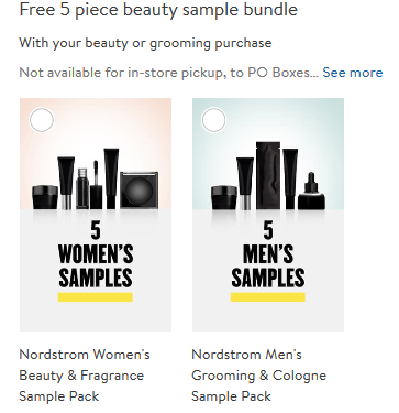 Nordstrom 5 free samples with any beauty purchase icangwp blog