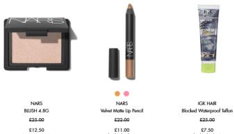 Sale Skincare makeup fragrance beauty Space NK