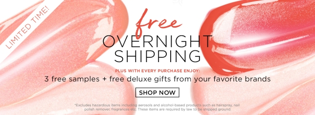 bluemercury free shipping
