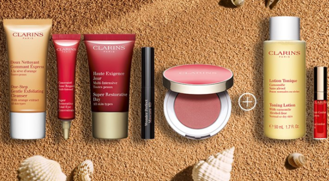 Gift with Purchase Free Shipping and Samples Clarins aug 2019 icangwp blog