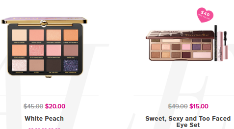 Makeup Sale Discounts Deals on our Cosmetics Too Faced
