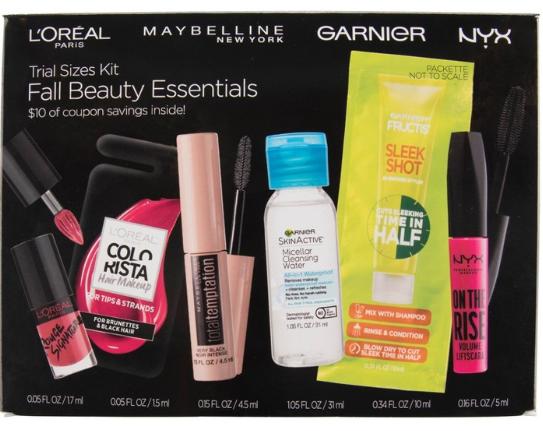 L Oreal Paris Fall Beauty Essentials Trial Size Kit Target
