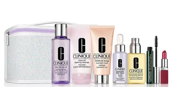 Clinique Fan Favorites Gift Set for 49.50 with any 29.50 Clinique purchase 226 value Bloomingdales icangwp blog