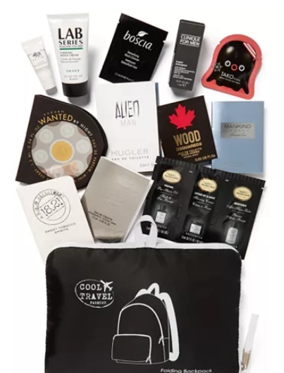 Created For Macy s Choose your FREE Packable Travel Backpack with 11pc. Sampler with any Men s Cologne or Grooming purchase of 85 or more Reviews All Cologne Beauty Macy s