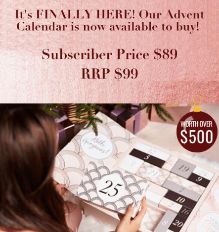 glossybox advent calendar 2019 usa