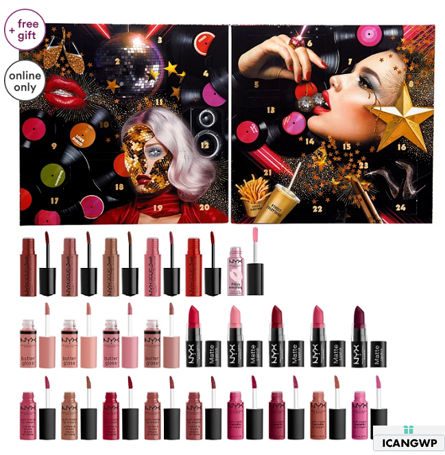 NYX Professional Makeup Love Lust Disco Greatest Hits Lip Advent Calendar Ulta Beauty