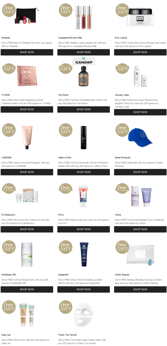 Promotions Cult Beauty goody bag 2019 winter november icangwp blog step up