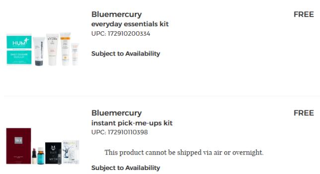 Your Shopping Cart bluemercury