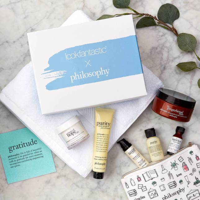 lookfantastic x philosophy limited edition box icangwp blog