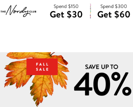 Nordstrom free points