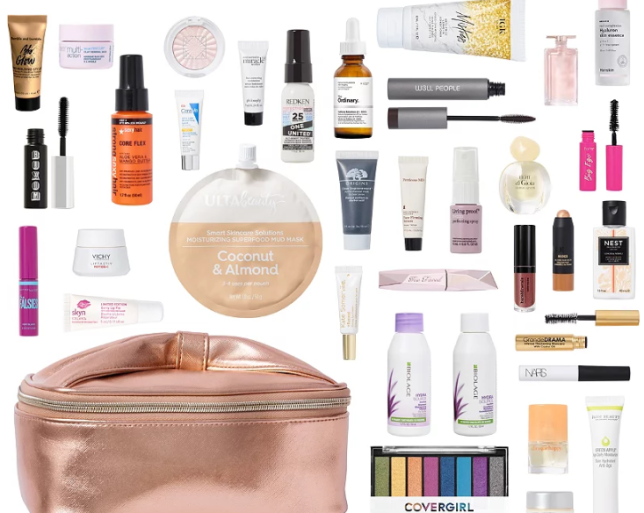Online Only Platinum Exclusive FREE 35 Piece Beauty Bag with any 150 online purchase Ulta Beauty