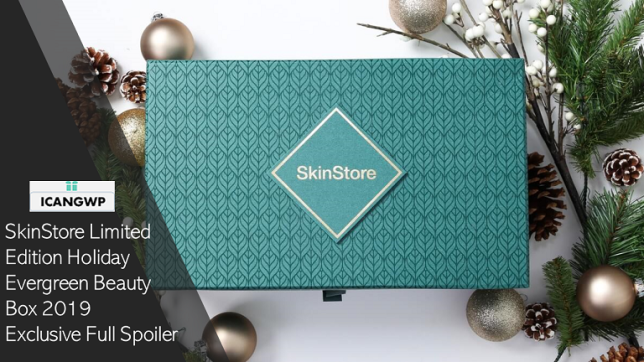 skinstore Limited Edition Holiday Evergreen Beauty Box 2019 icangwp