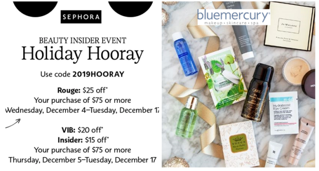 bluemercury 12 days of beauty event