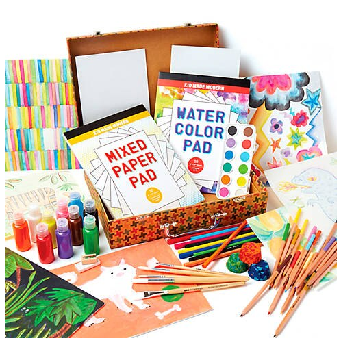 Kid Made Modern Studio in a Box Art Supply Kit belk