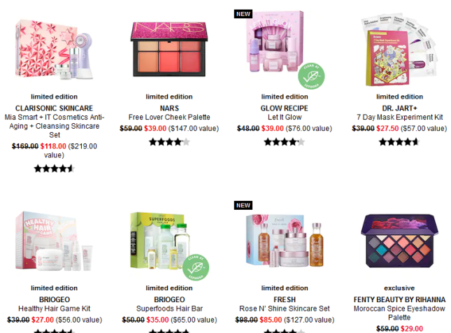 Makeup Sale Beauty Sale Sephora dec 2019