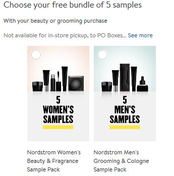 5 free samples Nordstrom icangwp