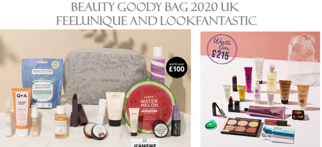 goody bag 2020 uk lookfantastic feelunique