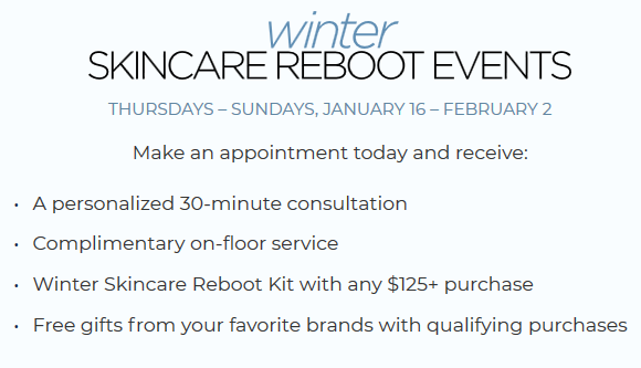 Winter Skincare Reboot bluemercury