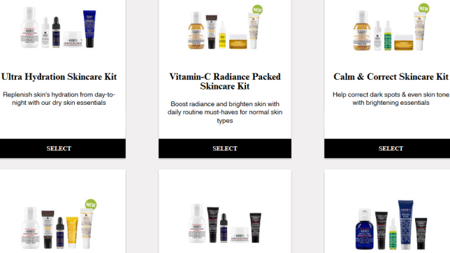 Customize Your Free Kiehl s 6 Piece Healthy Skincare Routine