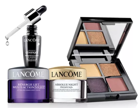 Lancôme Step up your gift Spend 80 and choose a bonus trio. Total gift worth up to 228 Reviews Gifts with Purchase Beauty Macy s