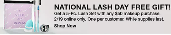 national lash day Macy s